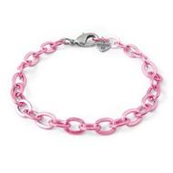 Charm It Charm It! Pink Chain Link Bracelet