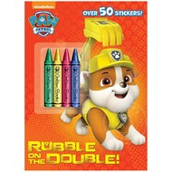 Penguin Paw Patrol Rubble on the Double Colouring Book