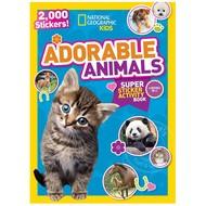 Random House National Geographic Kids  Adorable Animals Super Sticker Activity Book