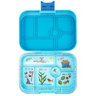 Yumbox YumBox Original 6 Compartment - Blue Fish w/ Kite Tray