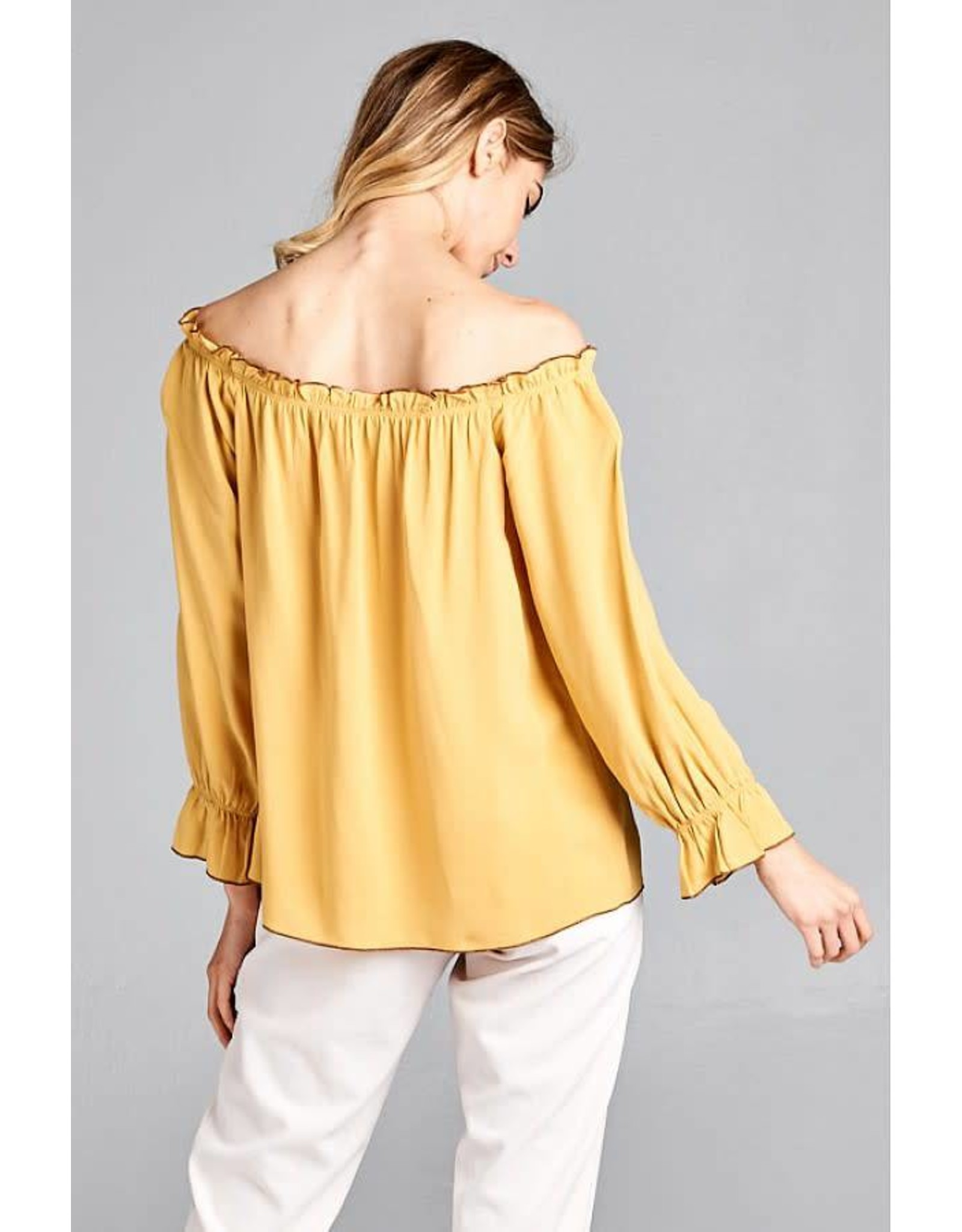 OFF SHOULDER WOVEN TOP