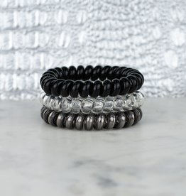 TLC BLACK DIAMOND METALLIC SET ORIGINAL HAIR TIES