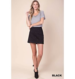 TLC BLACK STUDDED SKIRT