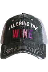TLC ILL BRING WINE TRUCKER HAT
