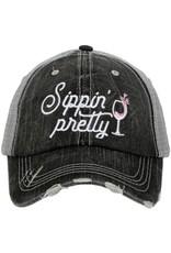 TLC SIPPIN PRETTY TRUCKER HAT