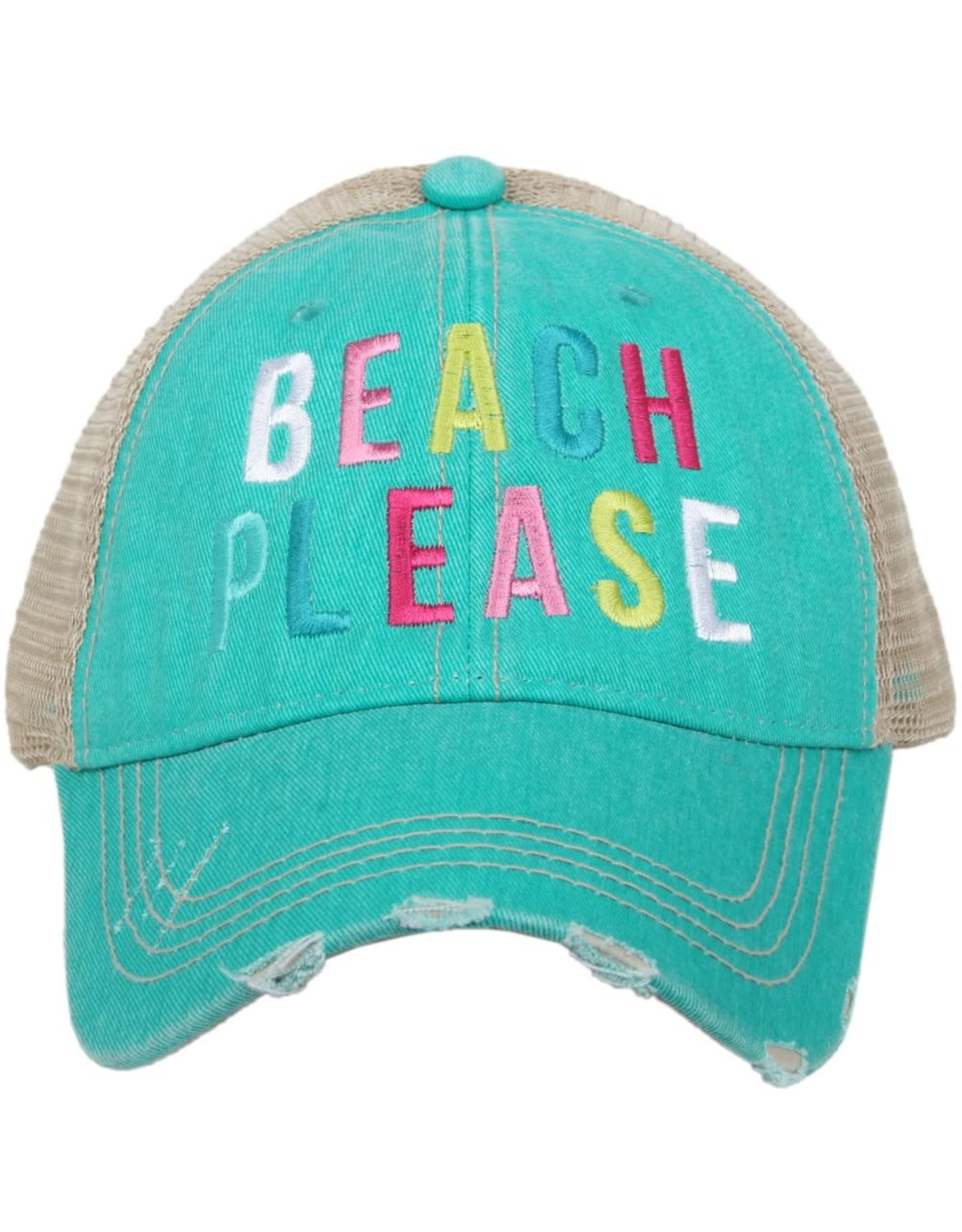 TLC BEACH PLEASE TRUCKER HAT