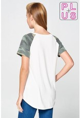 TLC CAMO SHORT SLEEVE RAGLAN