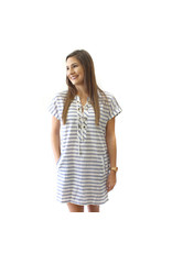 TLC Seaside Lace up cover up dress
