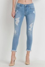 TLC LONG FRAY SKINNY JEAN DENIM