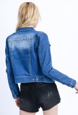 TLC Crop Denim Jacket