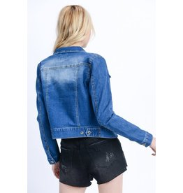 TLC Crop Denim Jacket