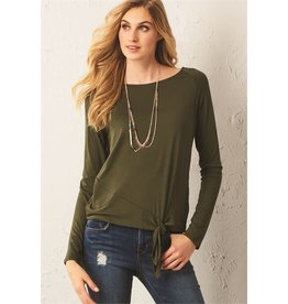 TLC KNOT LONG SLEEVE TOP