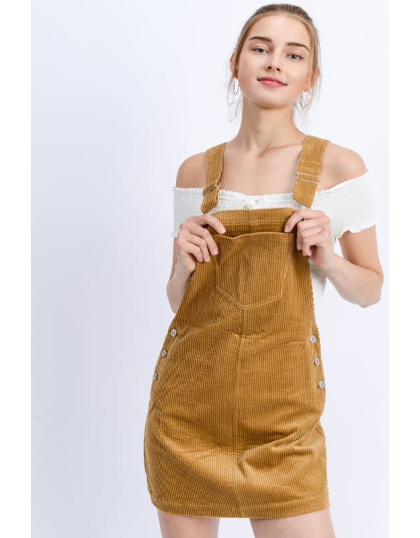 TLC CORDUROY OVERALL DRESS
