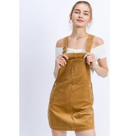 TLC CORDUROY OVERALL DRESS