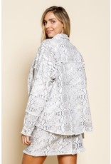 TLC SNAKE PRINT DENIM JACKET