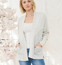 TLC TERRY DOLMAN CARDIGAN