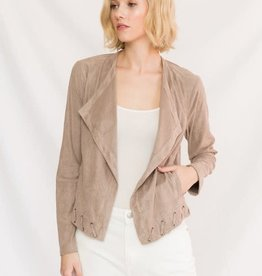 TLC PERFORATED SUEDE JACKET