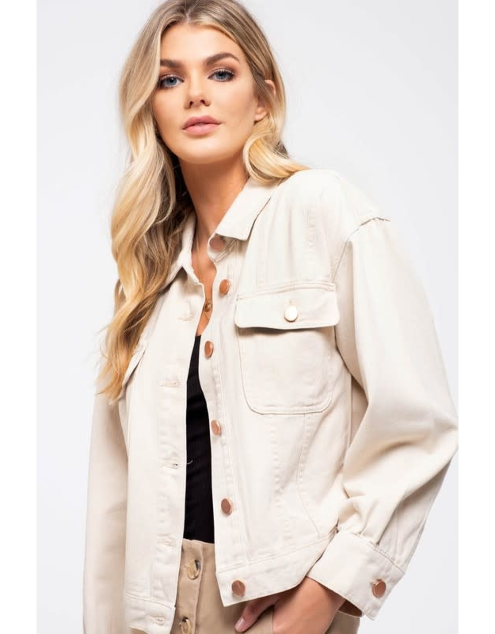 TLC BUTTON DOWN JACKET