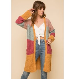 TLC COLORBLOCK CARDIGAN