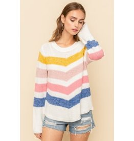 TLC STRIPE SWEATER