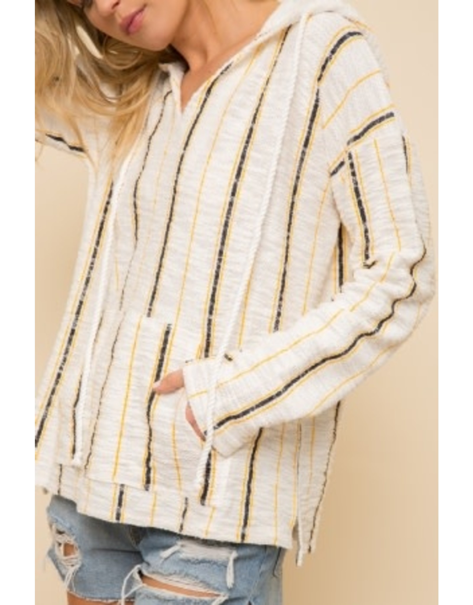 TLC STRIPED FRENCH TERRY