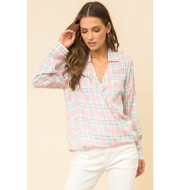 TLC PLAID BLOUSE