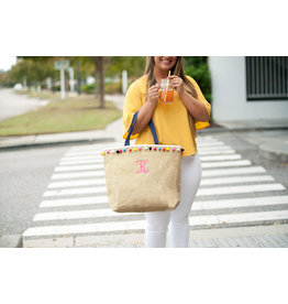 TLC Multicolor Pom-Pom Tote - customize!