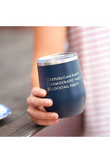 TLC Navy Cocktail Party 12oz Insulated Tumbler