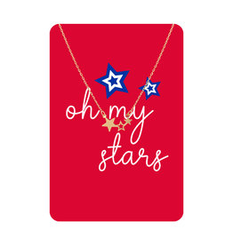 TLC Gold Oh My Stars Necklace Card