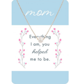 TLC Gold Pearl Mom Necklace Card
