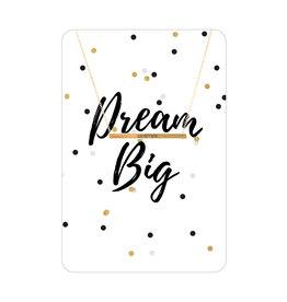 TLC Gold Dream Big Necklace Card