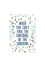 TLC Silver Sunburst Color Me Happy Necklace Card
