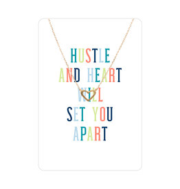 TLC Gold Heart Color Me Happy Necklace Card