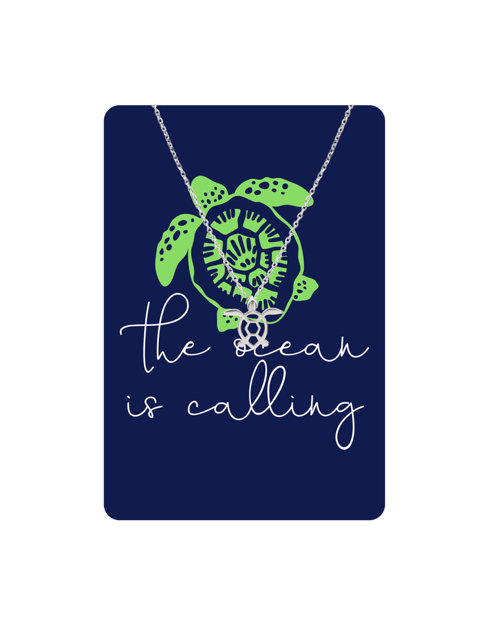 TLC Silver Turtle Necklace Card