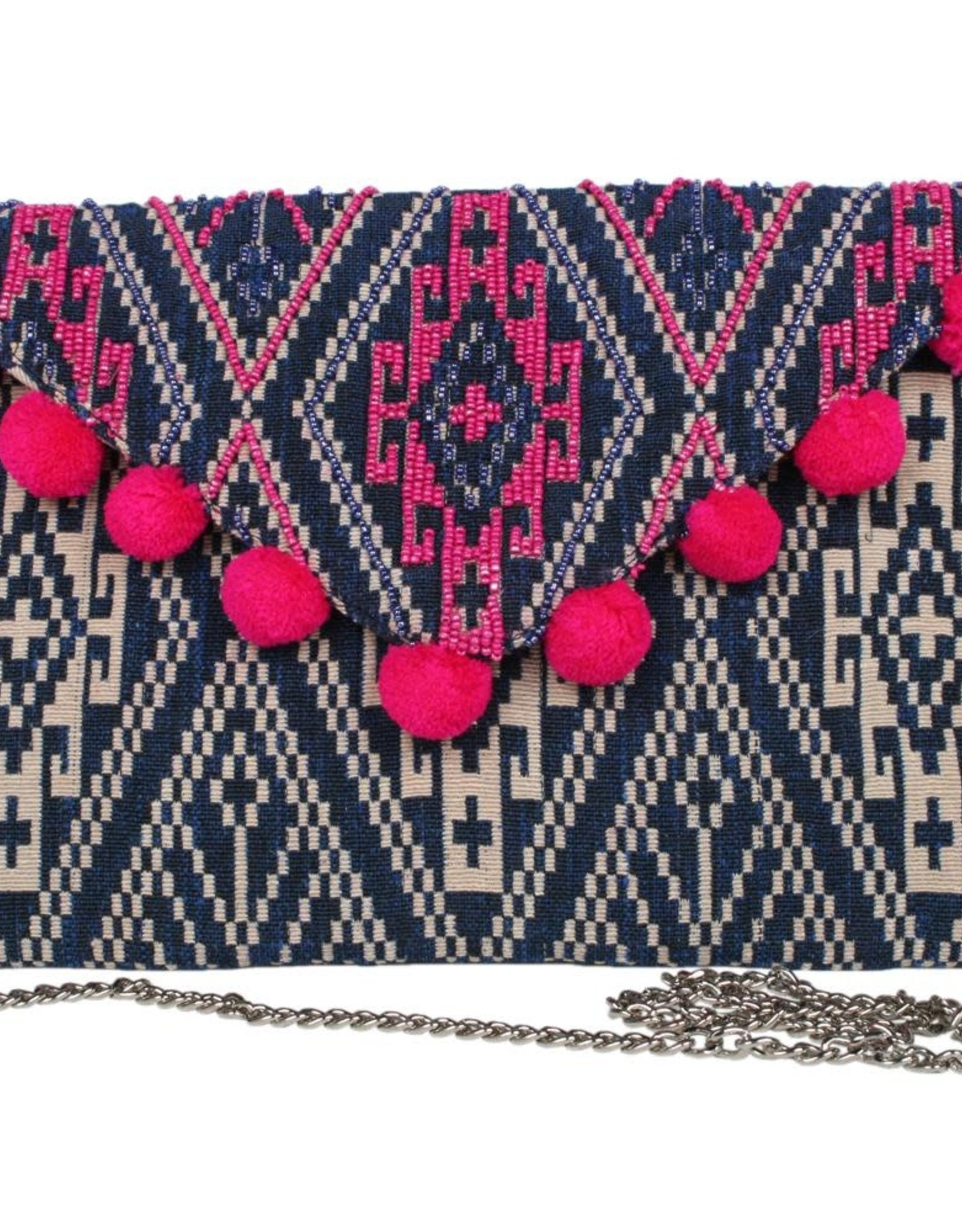 TLC Pom Pom Clutch Purse