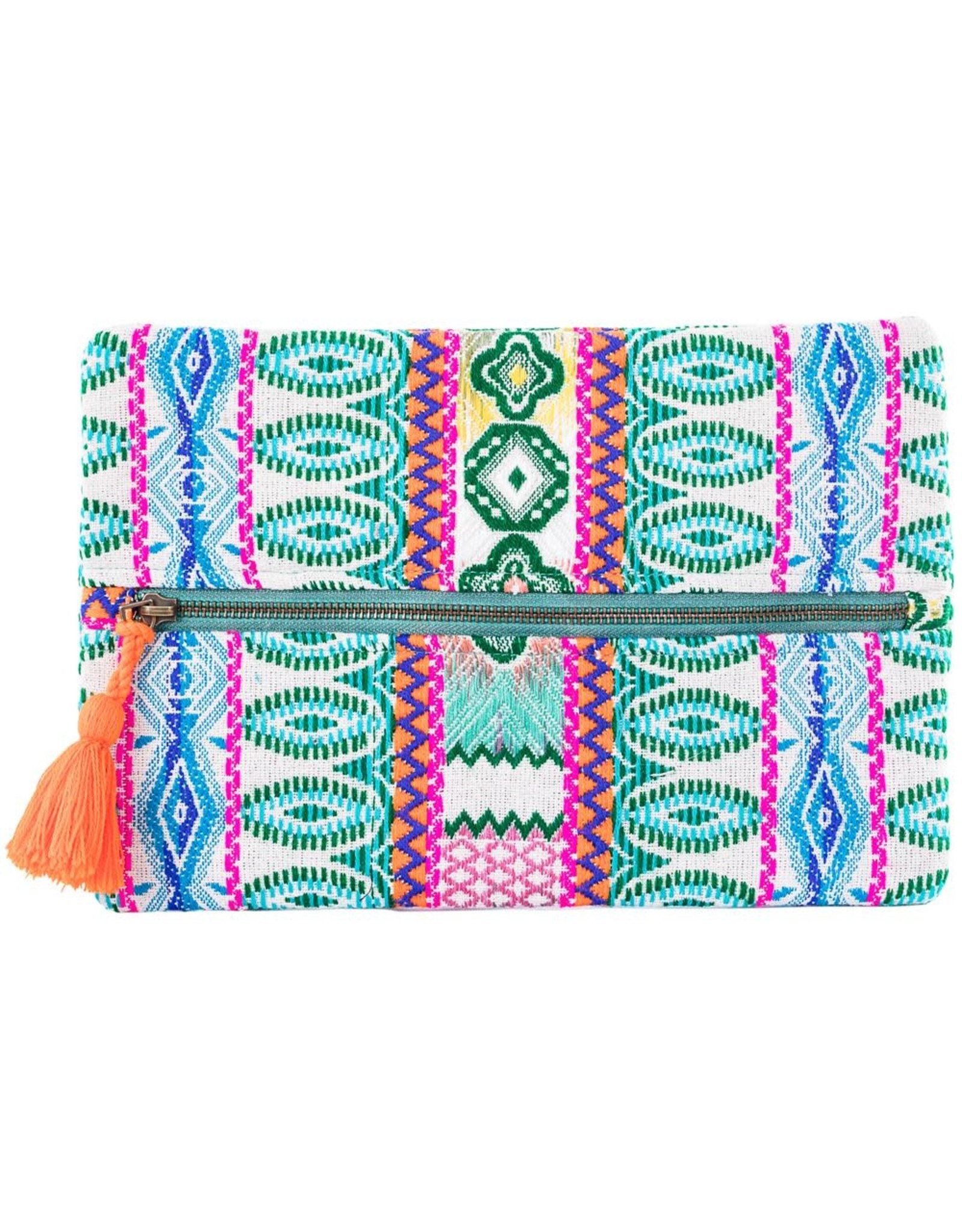 TLC Green Make up Bag or Clutch