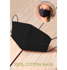 TLC Black Face Mask With Filter Slot - Includes 1 Filter