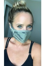 TLC camo face mask