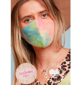 TLC Tiedye Face Mask with Filter Slot Includes 1 Filter
