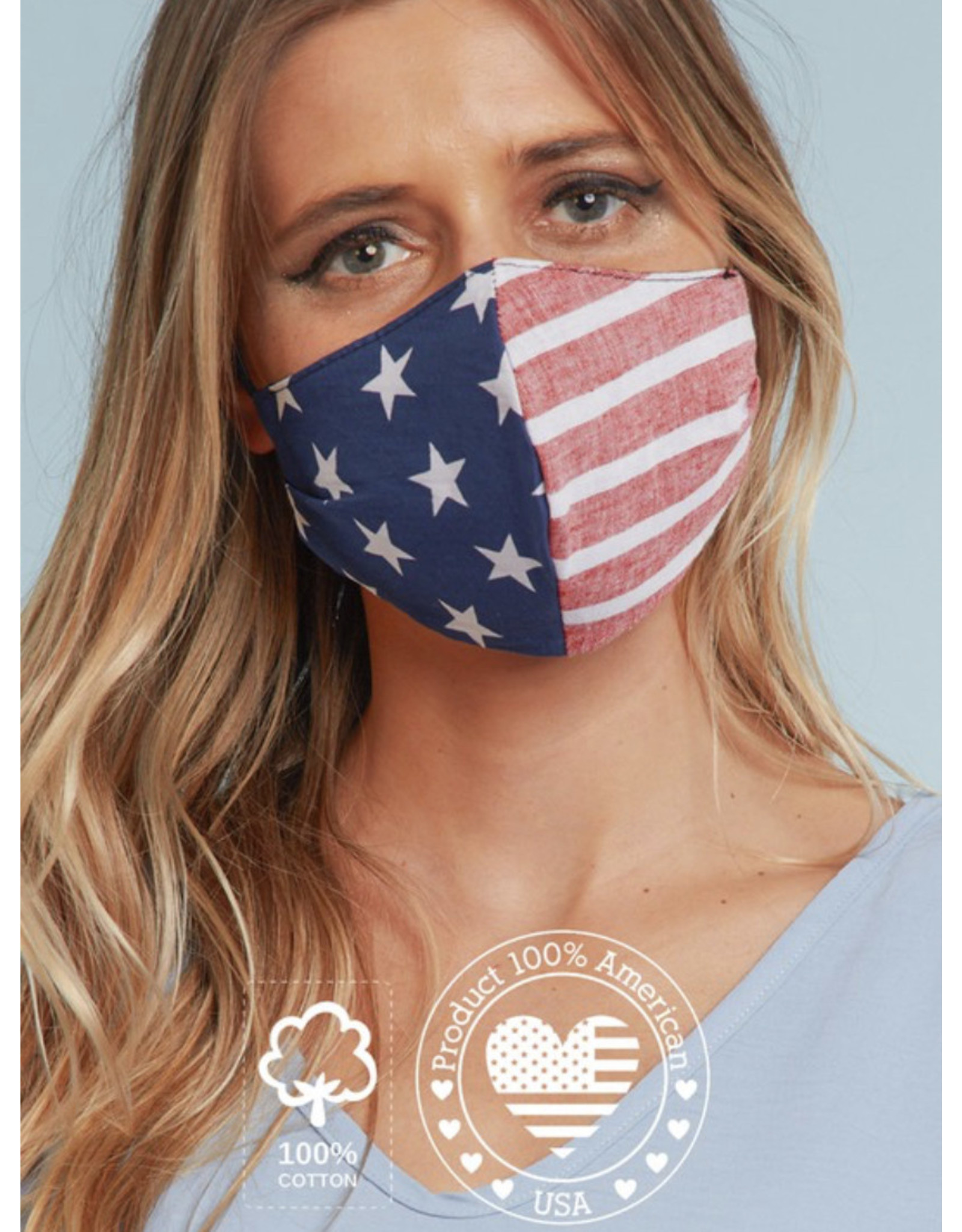 TLC stripe and star face mask with filter slot