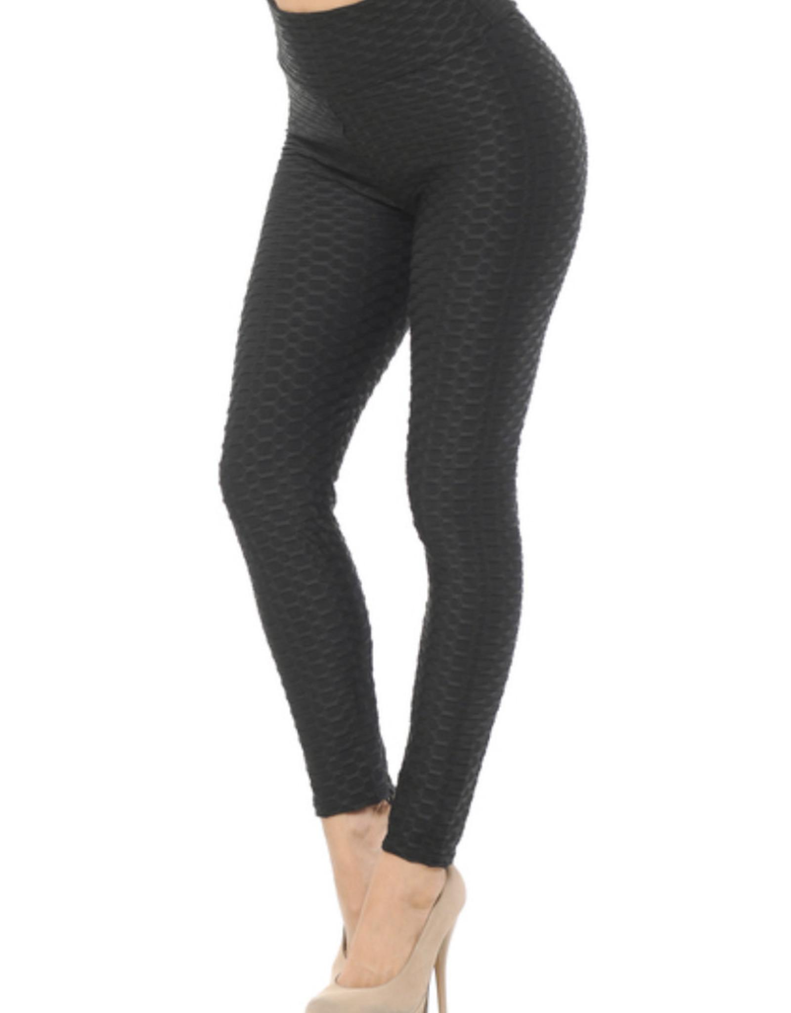 TLC Scrunch Butt Textured High Waisted Leggings