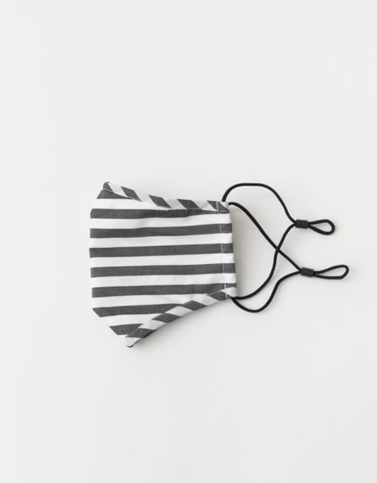 TLC face mask black/white stripes with filter pocket