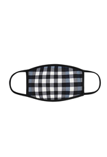 TLC black and blue plaid Face Mask