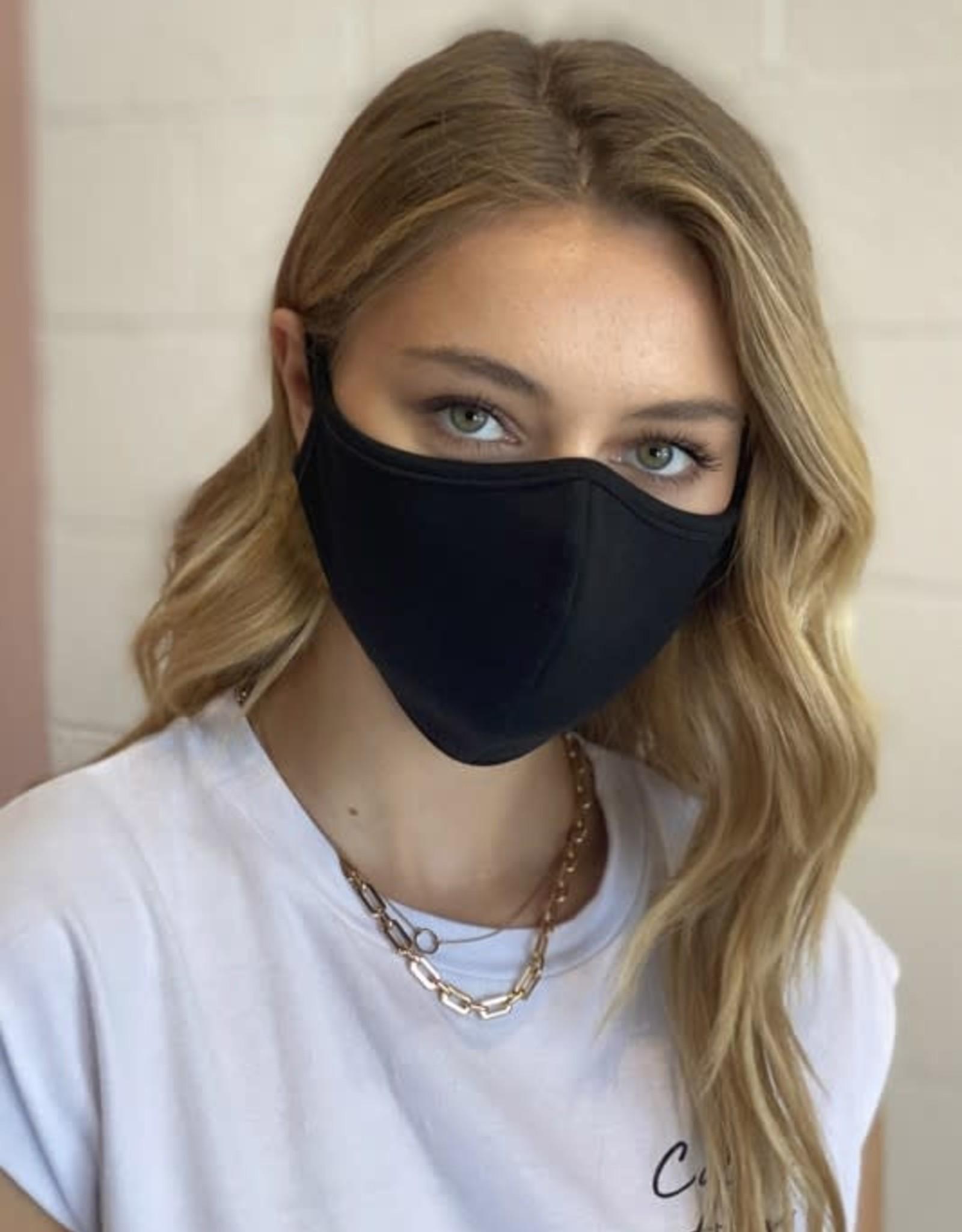 TLC black cotton face mask