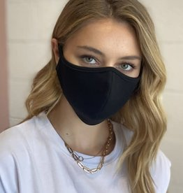 TLC black cotton face mask
