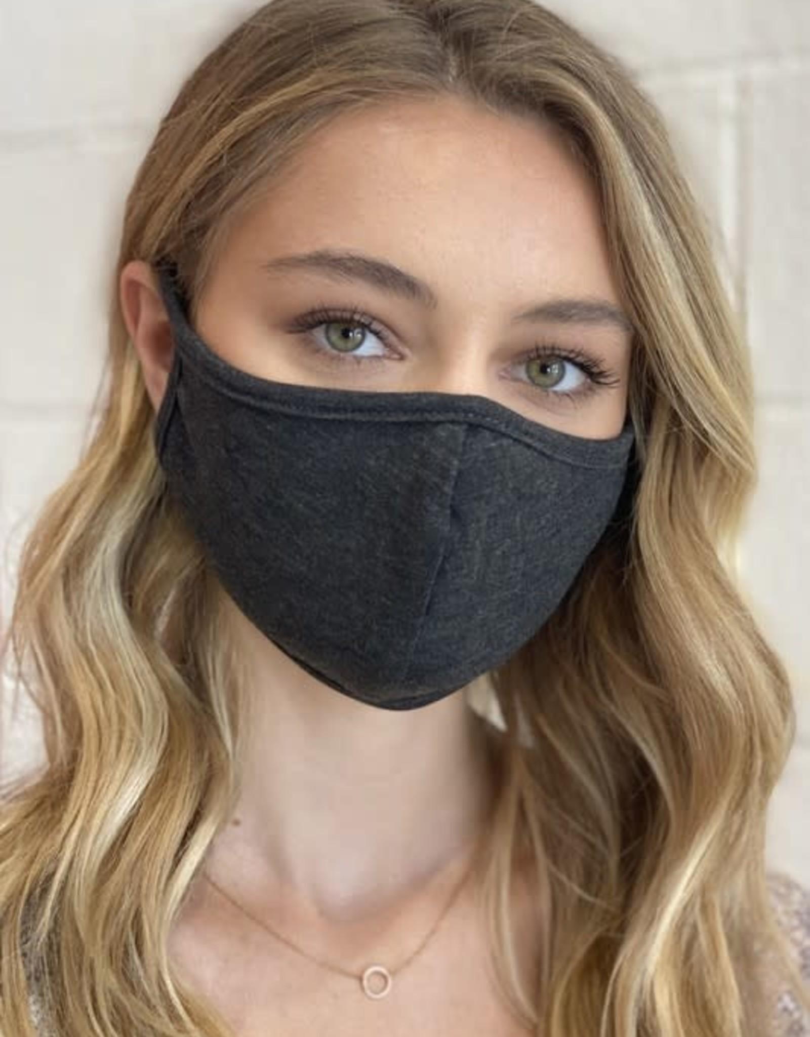 TLC dark gray face mask