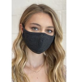 TLC dark gray face mask