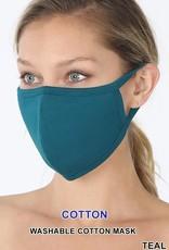 TLC teal cotton face mask
