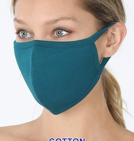 TLC teal cotton face mask