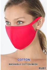 TLC ruby red cotton face mask